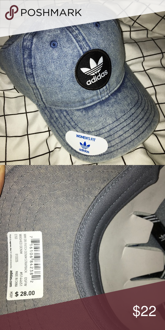 13abf2577d1 brand new adidas strap back hat washed denim could be paired with a pair of  black or white jeans adidas Accessories Hats