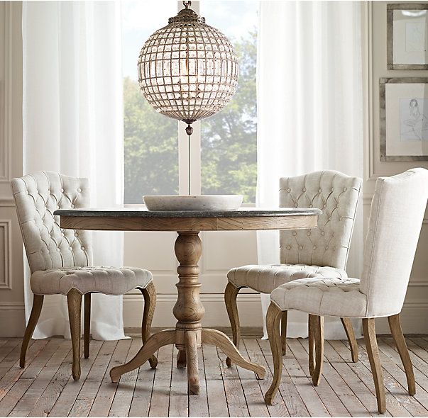 RH\'s 1840 Bluestone Pedestal Dining Table:Inspired by a 19th ...