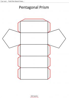 prisma pentagonal para recortar | Pudełka | Pinterest | Prisma ...