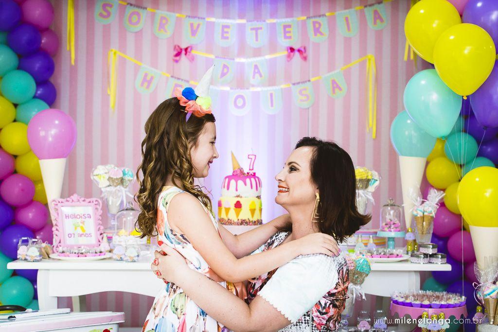 Aniversario Infantil Heloisa 7 Anos Festa Bolo Crianca