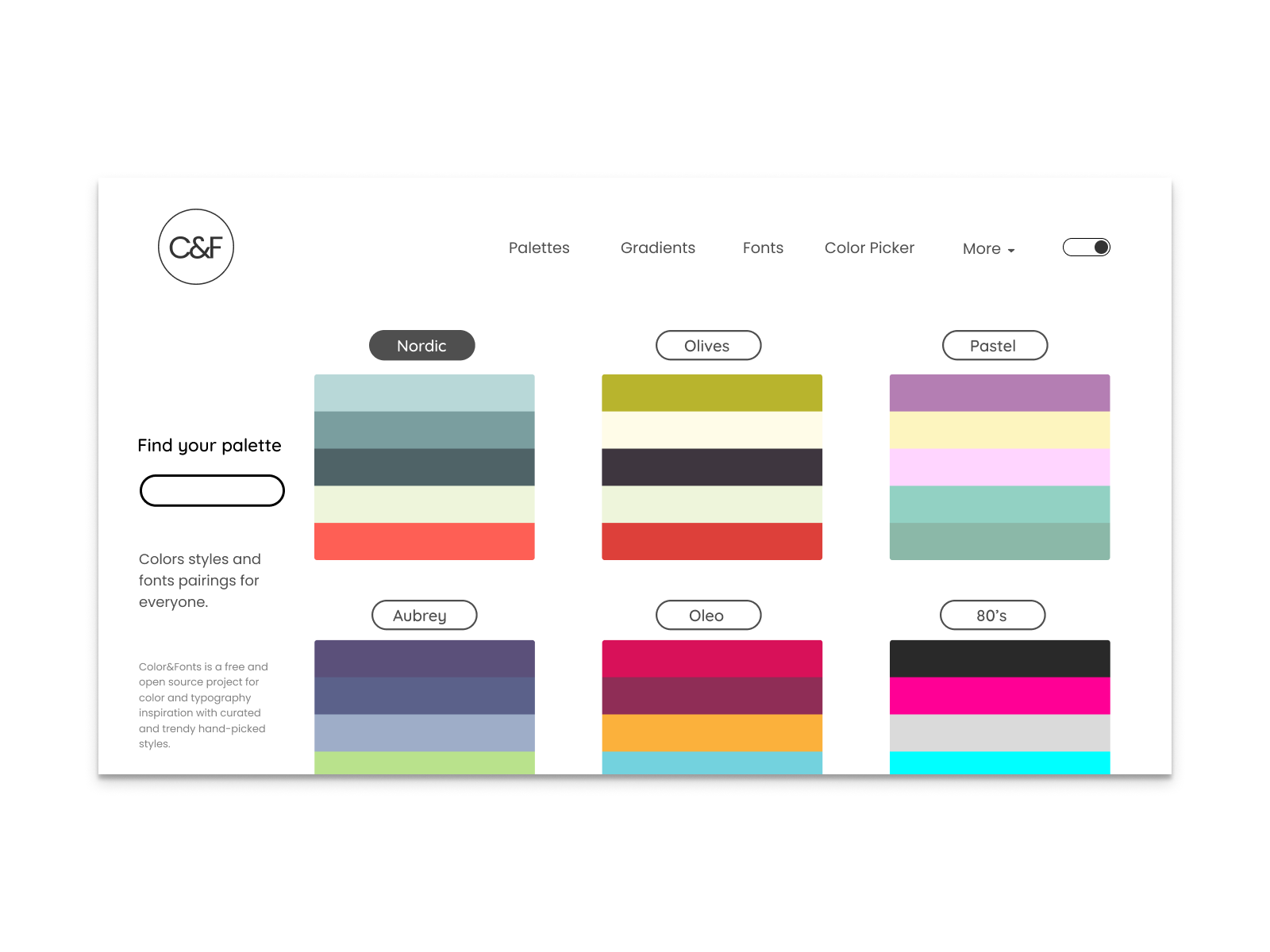Hot new product on Product Hunt Colors & Fonts Stunning