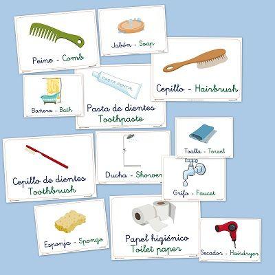 El cuarto de baño. Vocabulario básico para infantil | obrazki ...