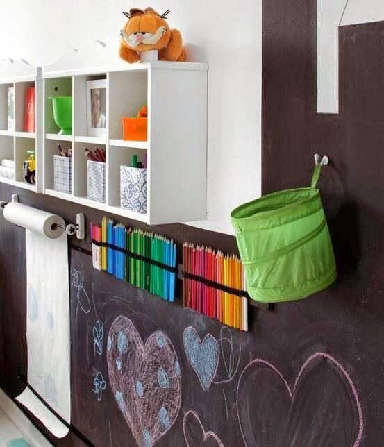 chalkboard wall/art center (SHELTER)