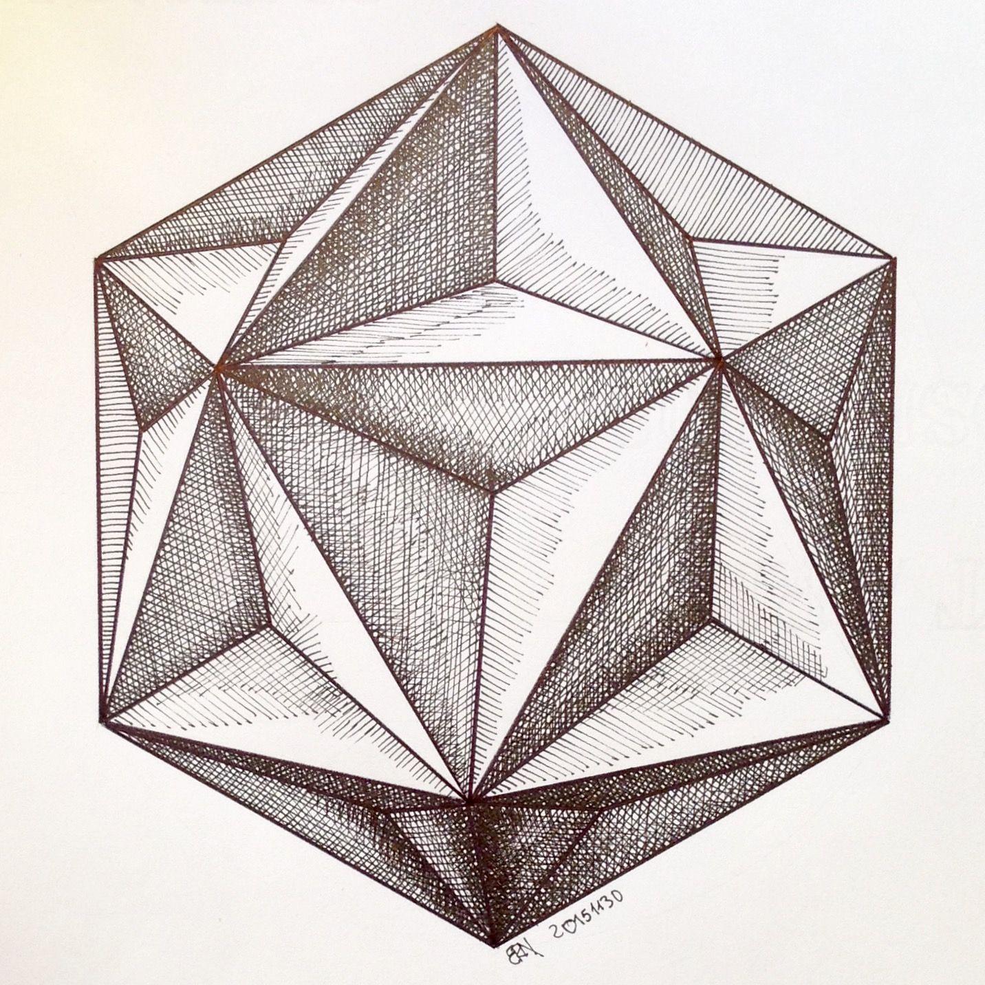Regolo54 Solid Polyhedra Star Pentagon Geometry