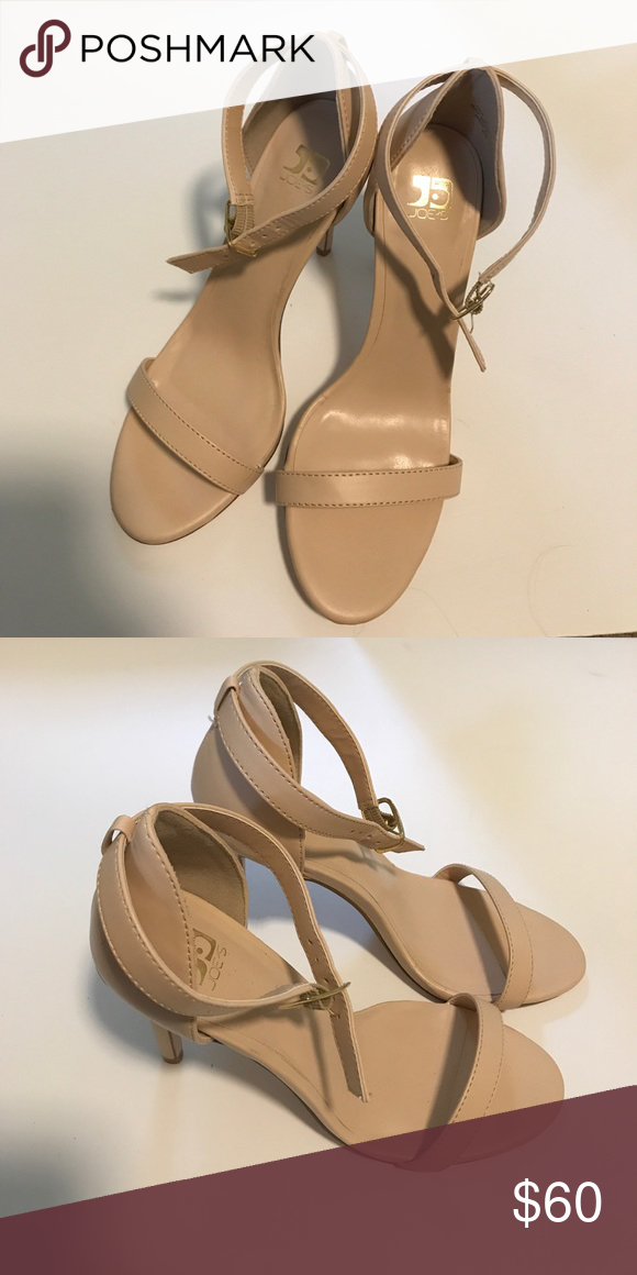 Joe's Nude Strappy Heels Size 6 | Nude strappy heels, Jeans shoes ...