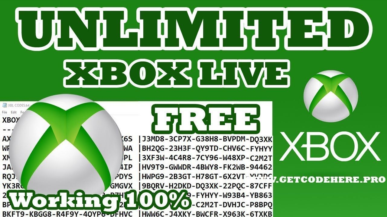 Get Free Xbox Gold Codes new trick how to get free unlimited working xbox live gold