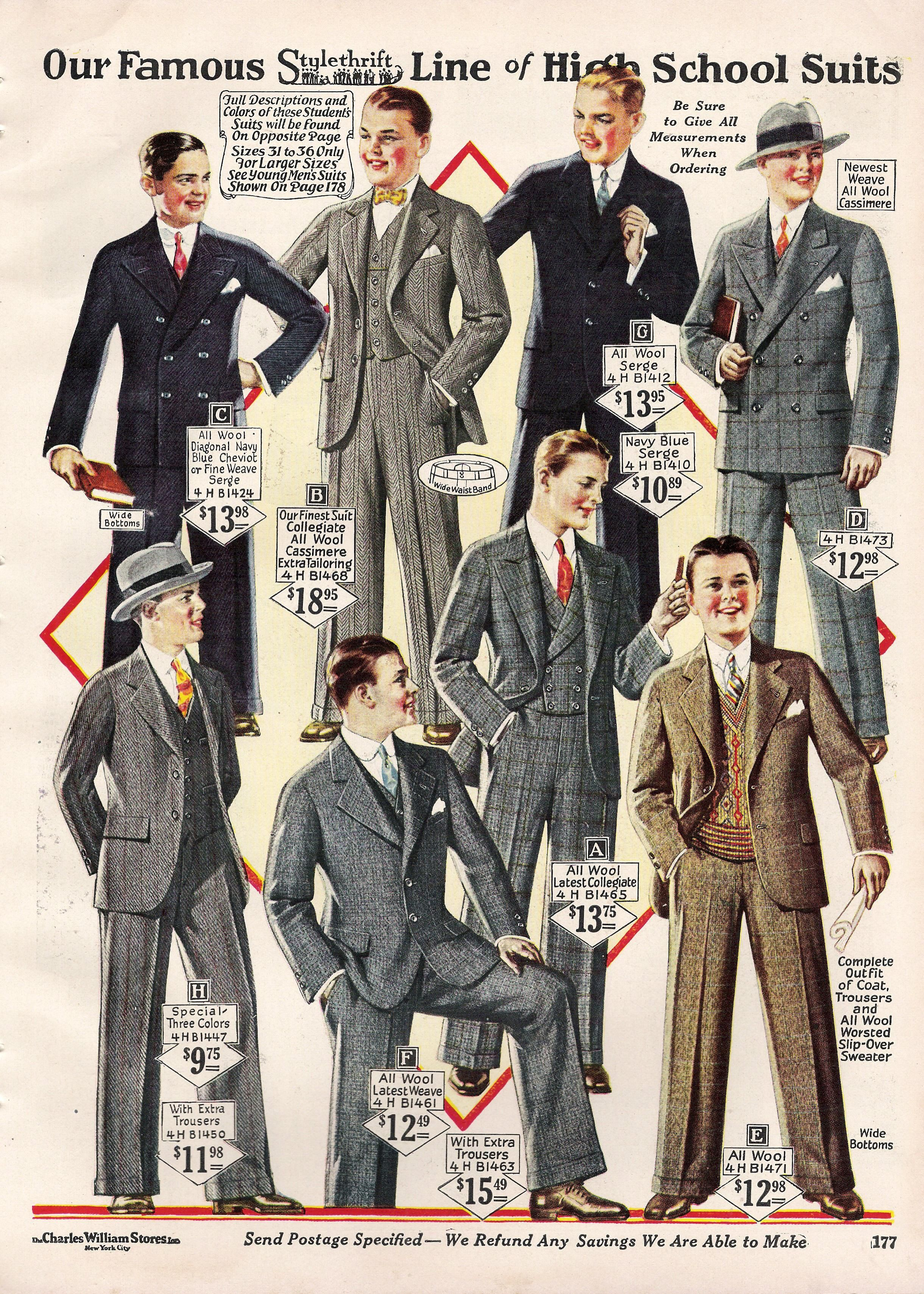 men s fashion in 1920 s sack suits remained the basis of suits for