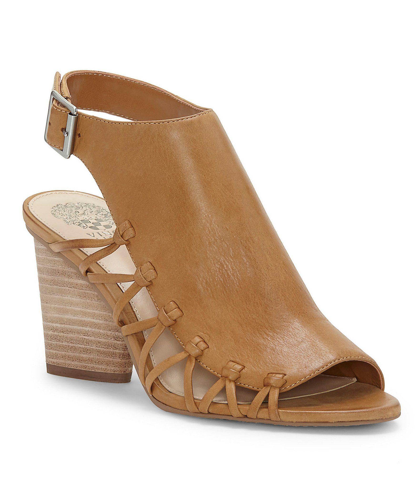Ankara Side Lattice Block Heel Sandals oGkMSP8V