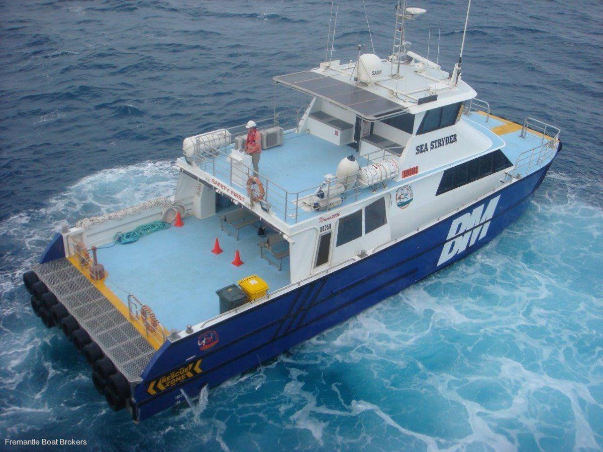 Catamaran Twin Jet Utility Transfer Vessel Commercial
