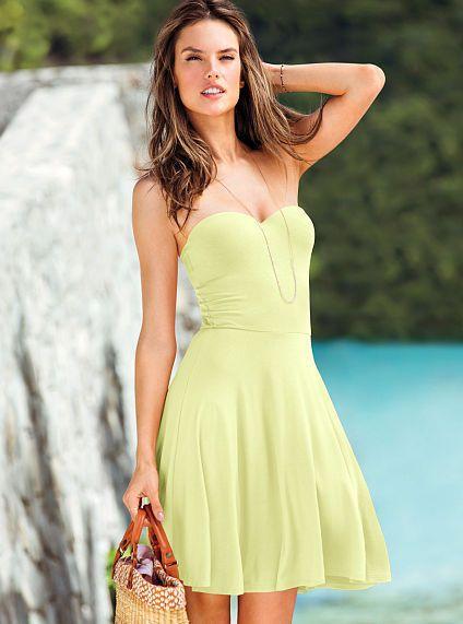 dc9ba3ba99 VICTORIA'S SECRET STRAPLESS BRA TOP DRESS SZ.36C LARGE $69.50 NEW # VictoriasSecret #Sundress