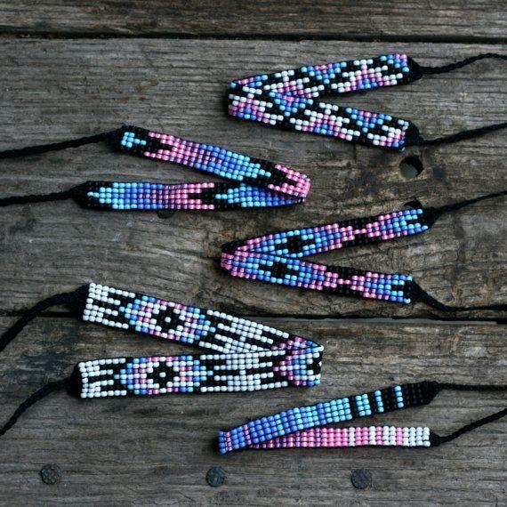 Bead Loom Friendship Bracelet Collection 14 by MichikoJewelry