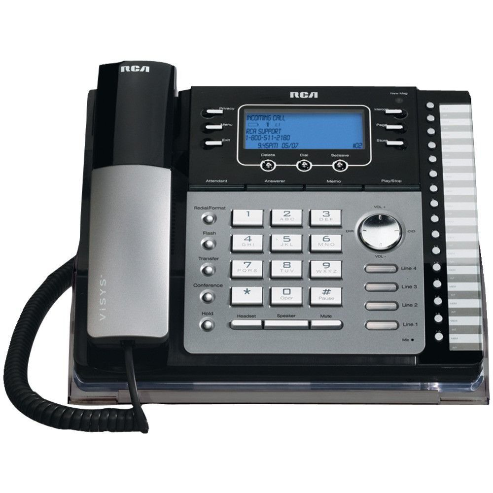 Rca 4-line Corded Phone (with Caller Id Answering System & Auto Attendant)