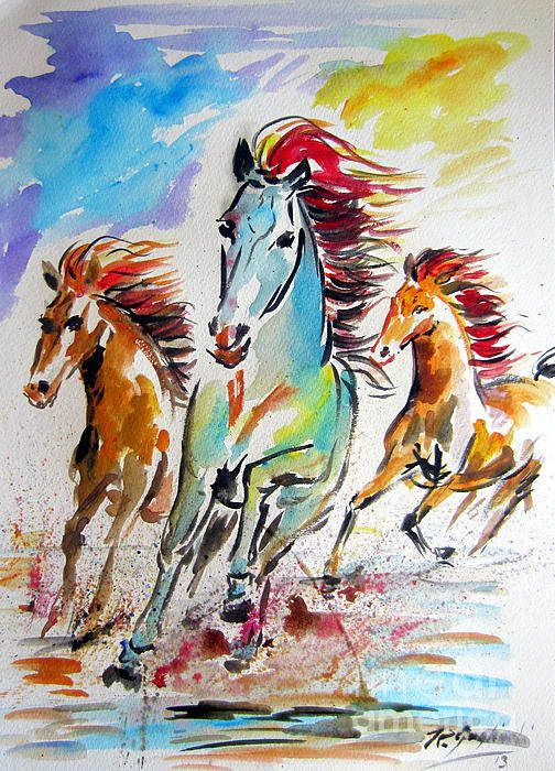 Wild Horses Running | Print..., Canvas prints and Featured