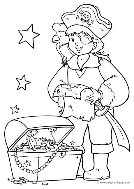 Pirate Colouring Page 1 Pirate Coloring Pages Coloring Pages