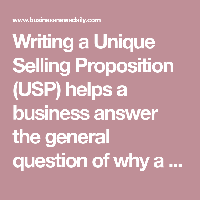 Unique Selling Proposition Usp Definition Examples Templates