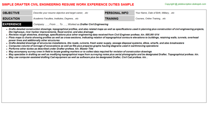 Civil Engineer Job Description Resume  HttpWwwResumecareer