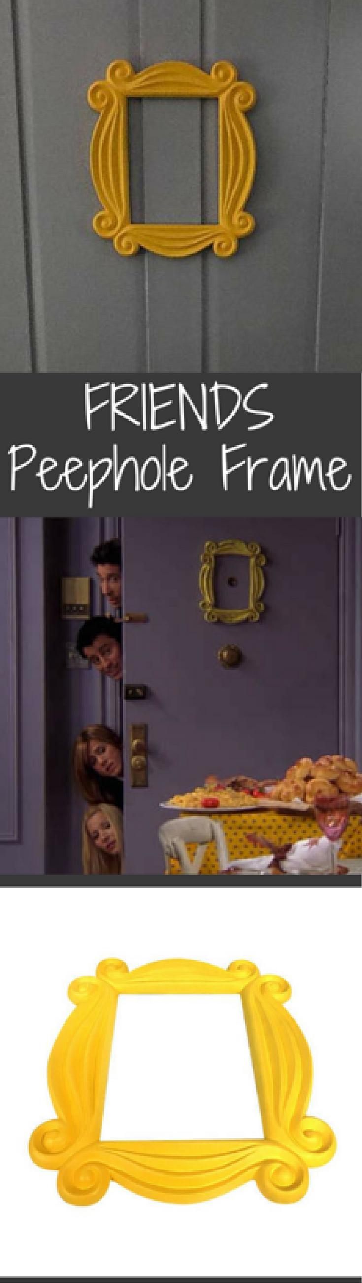 Friends Replica Frame, Yellow Peephole Frame, Friends Yellow Door ...