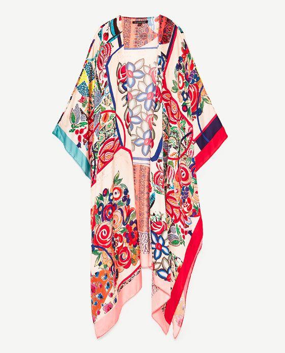 KIMONO PAÑUELO Kimonos ABRIGOS MUJER | ZARA México | Zara