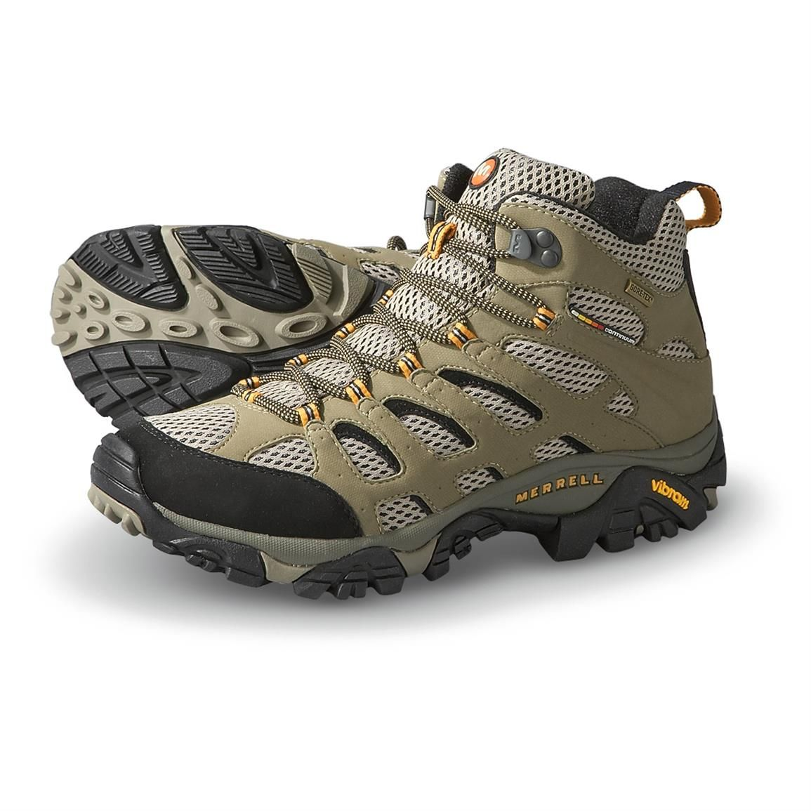 Merrell GORE-TEX XCR Men's Moab Mid Hiking Boots, Dark Tan - 135190, Hiking  Boots & Shoes at Sportsman's Guide