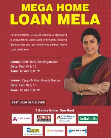 One Stop Shop For Homeloans Credai Home Loan Mela Feb 2015 Home Loans Loan How To Apply