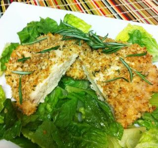 Oven Fried walnut and rosemary chicken - lots of healthy recipes!!