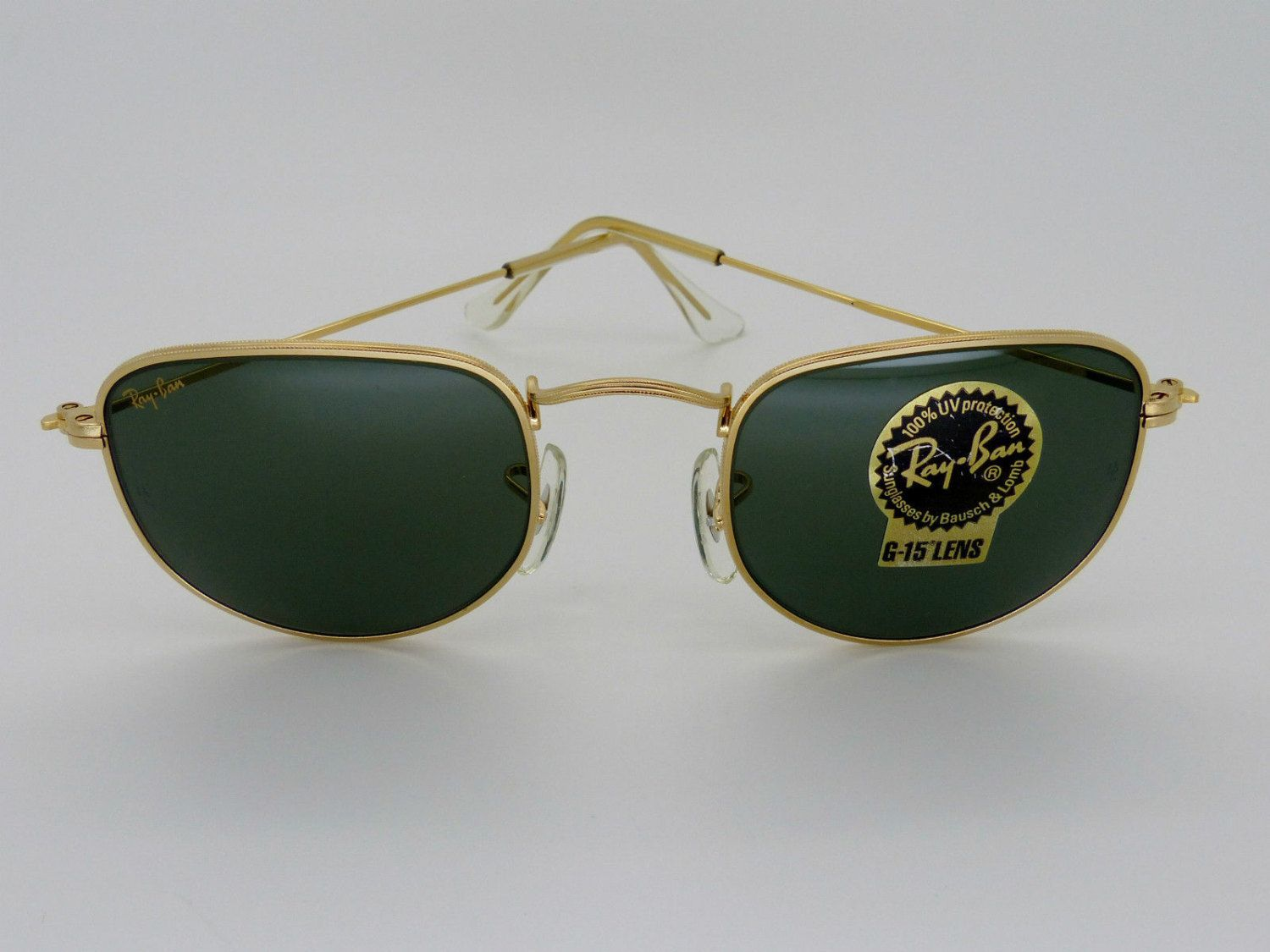 Vintage B&L Ray-Ban W0978 Arista Gold Classic Collection G-15 Unisex ...
