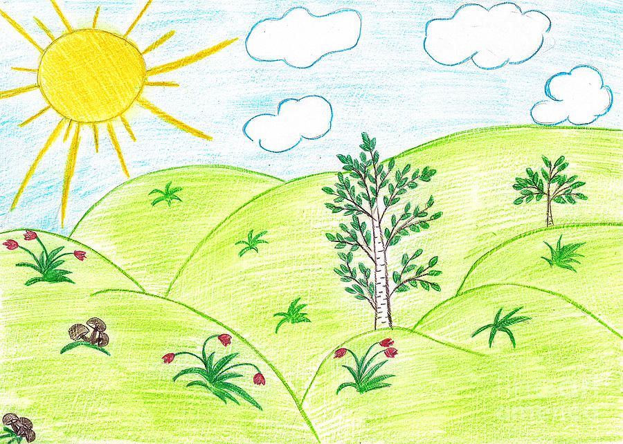 More Ideas For The Childrens Drawings Projected Backdrops To Set The Scene Childrens Drawings Art Drawings For Kids Summer Drawings