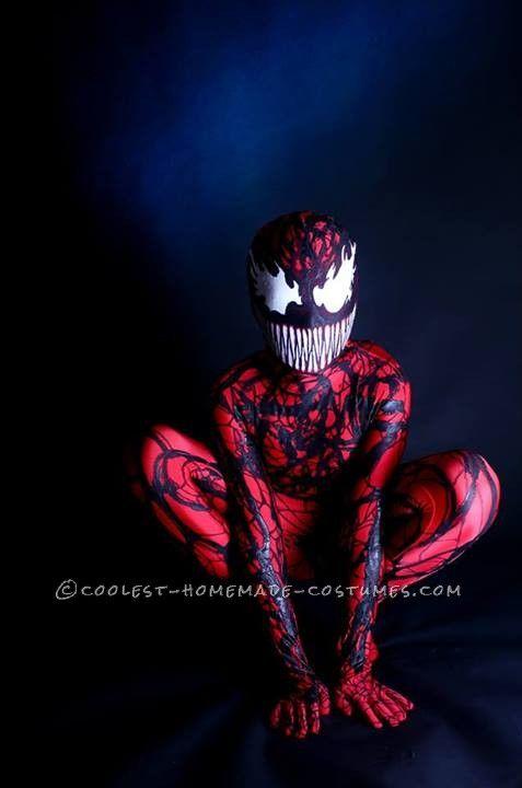 Coolest Homemade Carnage (Spiderman Villain) Costume. & Coolest Homemade Carnage (Spiderman Villain) Costume   Pinterest ...