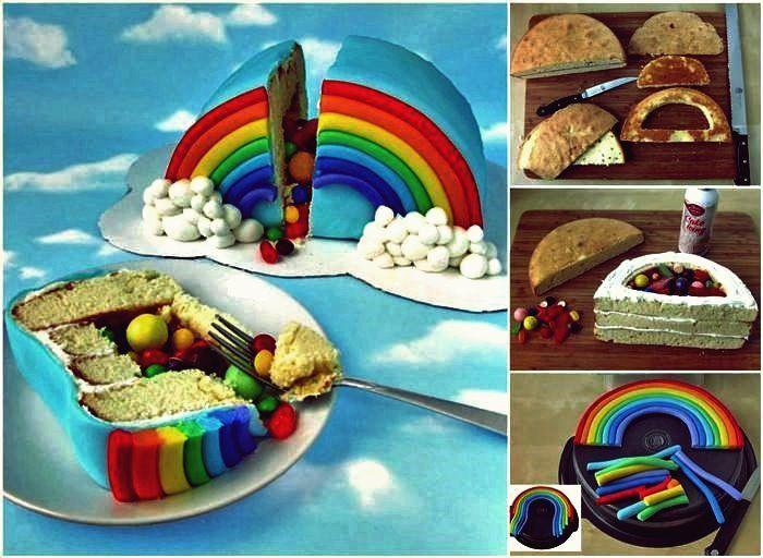 Photo of Wie man mit Süßigkeiten gefüllten Regenbogen-Überraschungskuchen selber mach…