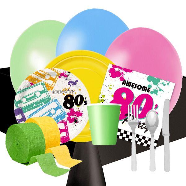 Menaje y decoraci n para una fiesta a os 80 de www for Decoracion 80 anos ipuc