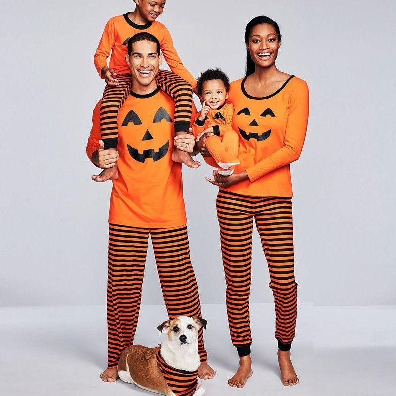 loomrack Family Pumpkin Matching Halloween Pajamas Matching Family