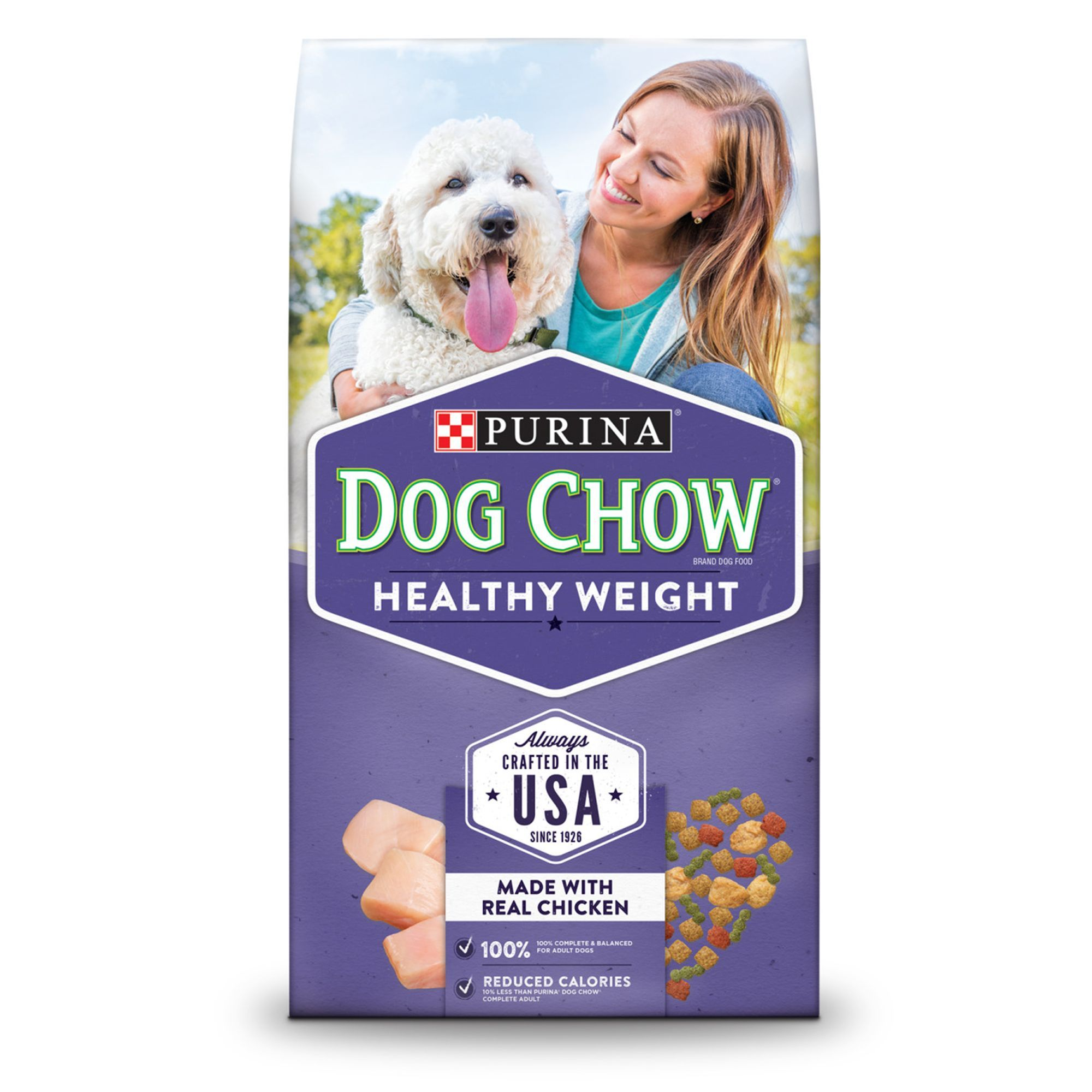 Purina Dog Chow Healthy Weight Adult Dog Food Chicken