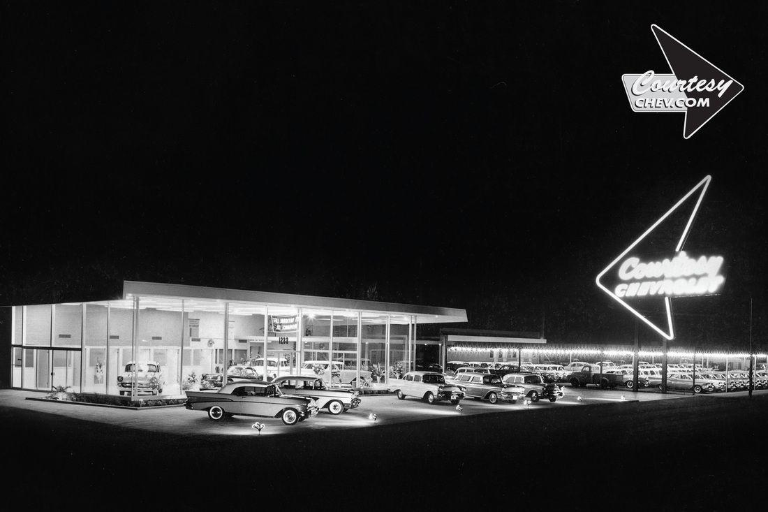 1957 Courtesy Chevrolet Dealership Phoenix Arizona Chevrolet