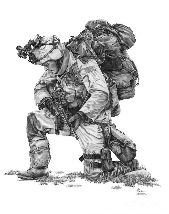 easy army soldier drawings › copay.online