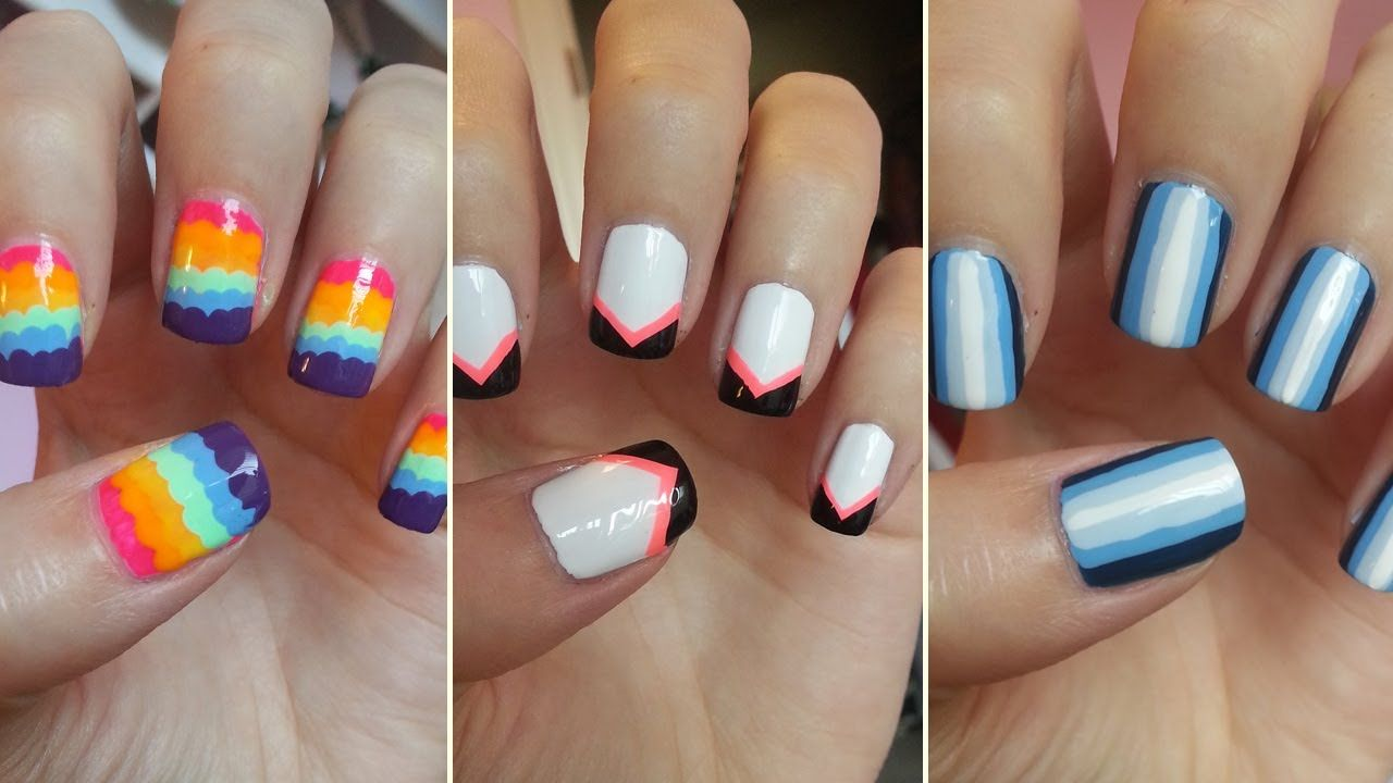 Easy Nail Art For Beginners This Girl Is Super Annoying Fast Forward Through Her Talking Lol Nail Art For Beginners Simple Nails Quick Nail Art
