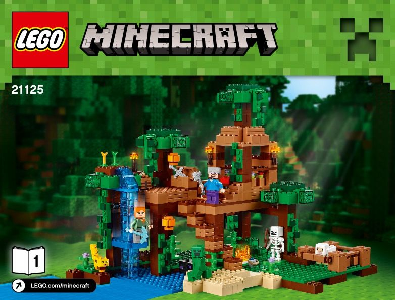 Minecraft The Jungle Tree House Lego 21125 Treehouse Tree