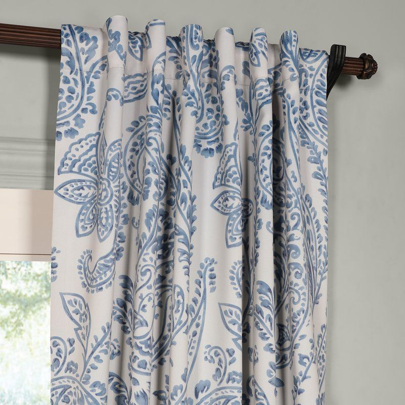 Trafalgar Paisley Blackout Thermal Rod Pocket Single Curtain Panel Cool Curtains Half Price Drapes Kids Curtains