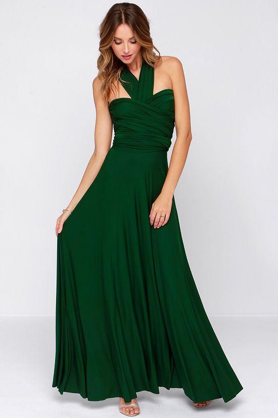 e0f41083d9 Tricks of the Trade Forest Green Maxi Dress at Lulus.com!