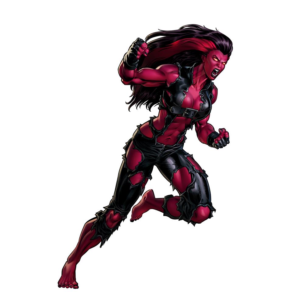 Red She Hulk Red She Hulk Hulk Marvel Marvel Avengers Alliance