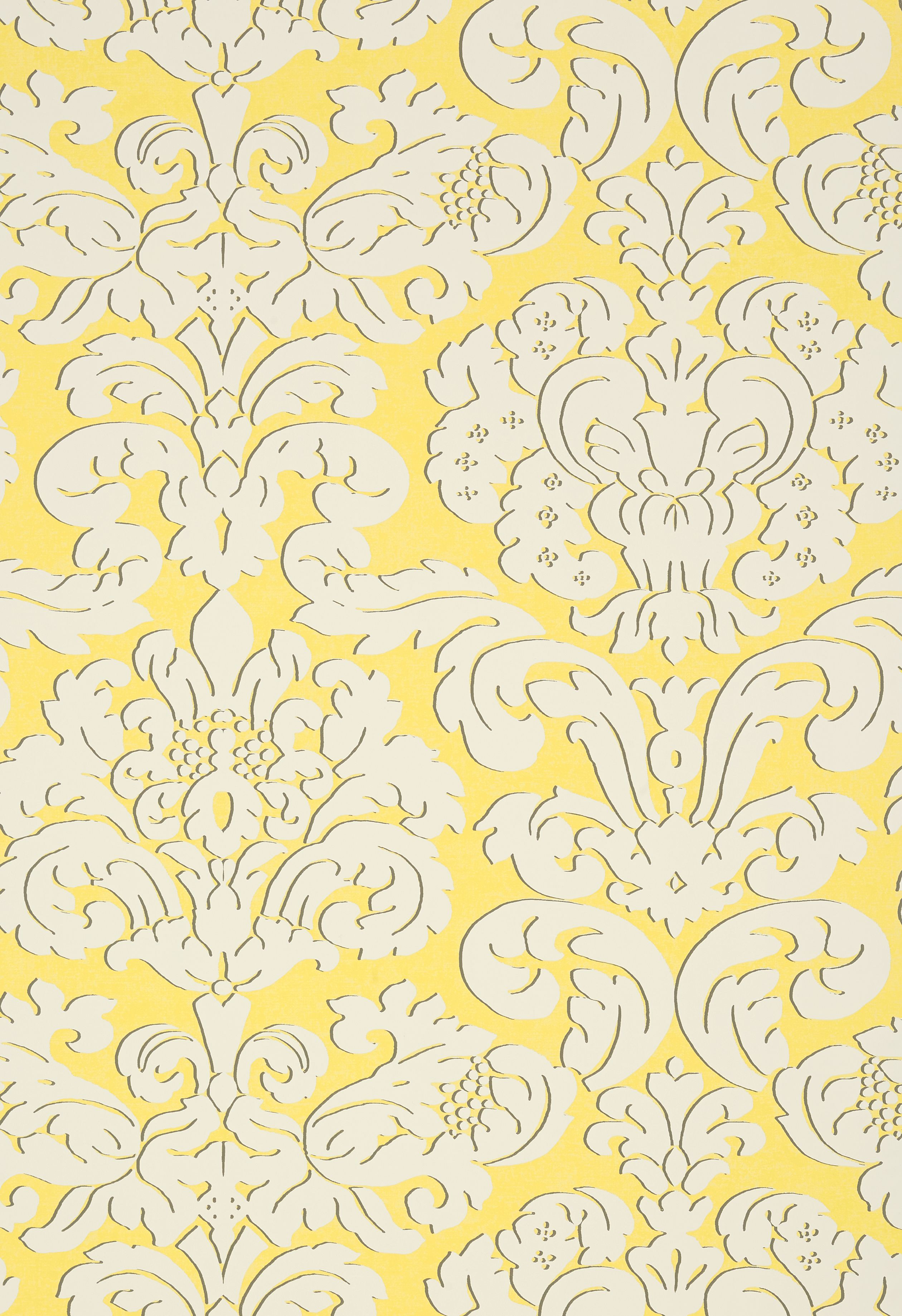 TRELAWNY DAMASK, Yellow, T14216, Collection Imperial