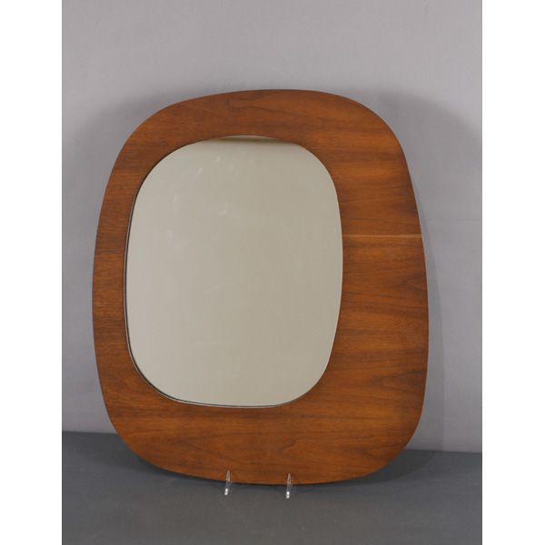 Mid Century Modern mirror by Pure Design; Eames, Panton era. 23 1/