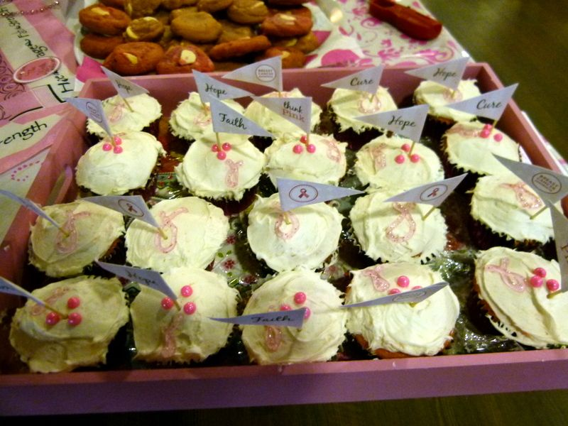 Hope Lodge Pink Party - Strawberry cupcakes (ksl)