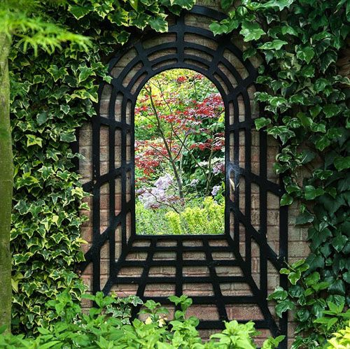 Fascinating garden mirrors ideas hardware gardens and for Outdoor mirror ideas