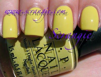 OPI Fiercely Fiona (Bright Lemony Yellow)