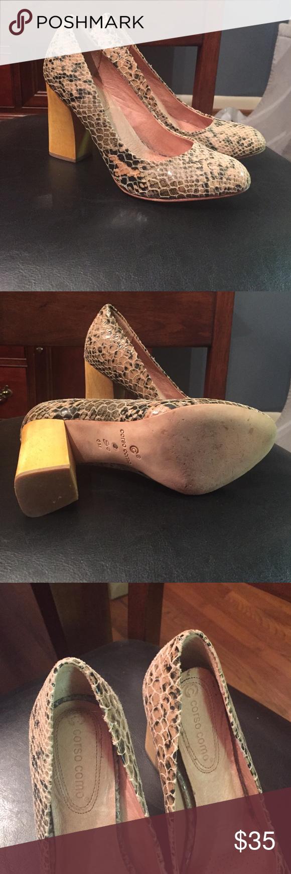 Corso Como heels Used snakeskin heels. Good condition. Size 6 Corso Como Shoes Heels