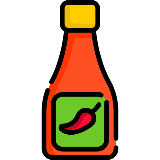 Hot Sauce And Chili Peppers Vector Illustration Hot Sauce Sauce Stuffed Peppers