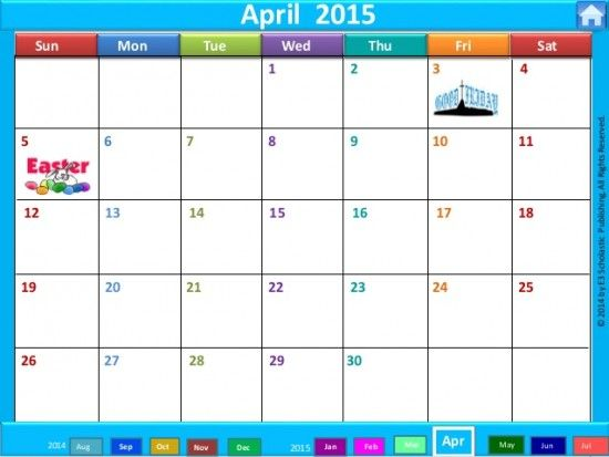 April 3rd 2015 Holiday 2014 2015 Interactive School Year Calendar
