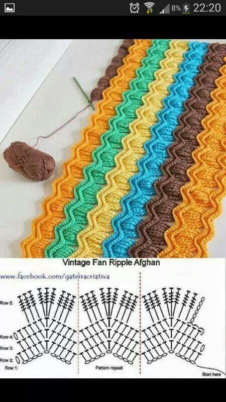 geripptes Afghan muster | schöne Handarbeiten | Pinterest | Häkeln ...