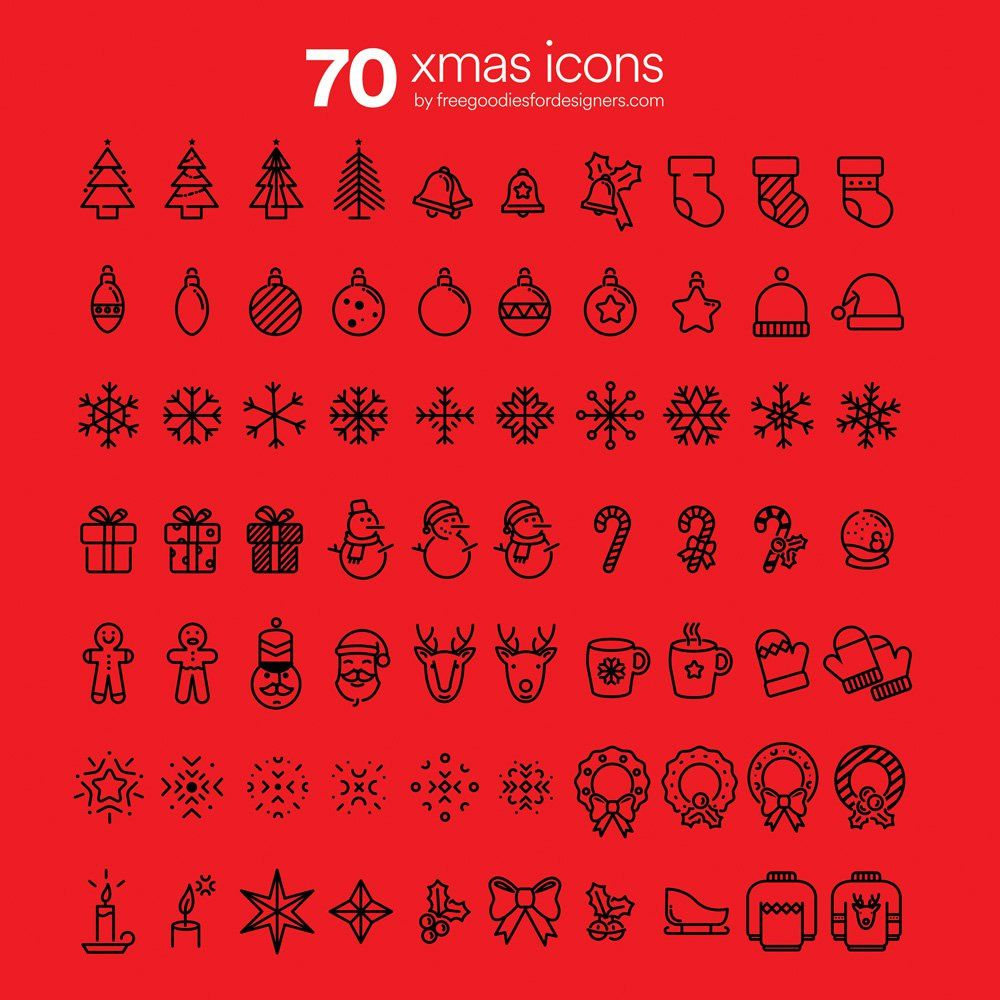 Free Awesome Xmas Icons Christmas doodles, Christmas