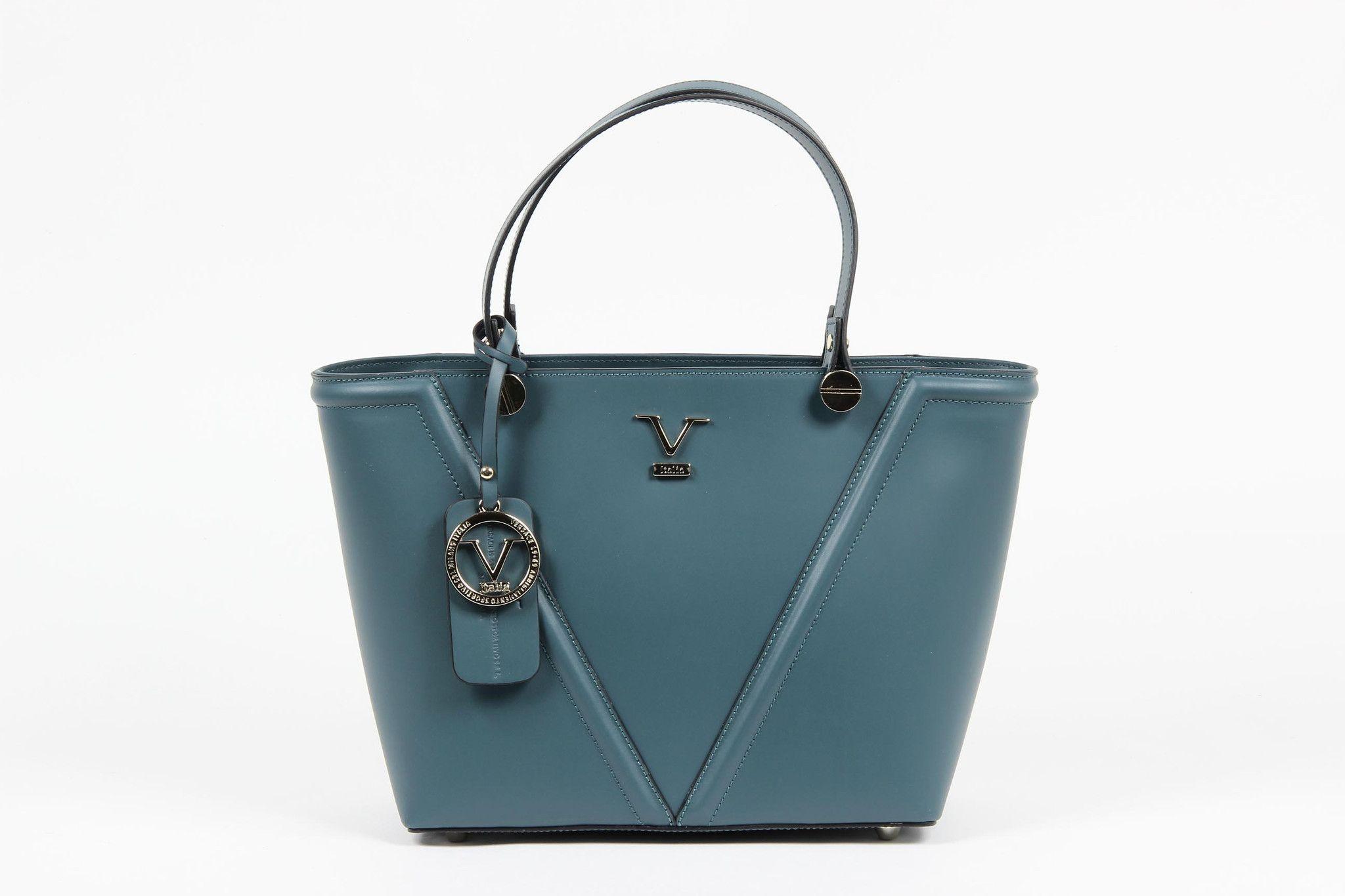 569ca2a1fa VERSACE 1969 V ITALIA Leather Tote Bag
